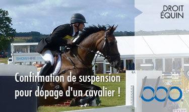suspension pour dopage, BBP Avocats Paris, expert en droit équin