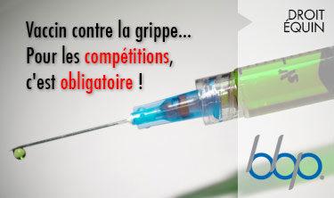Vaccin contre la grippe obligatoire pour la compétition